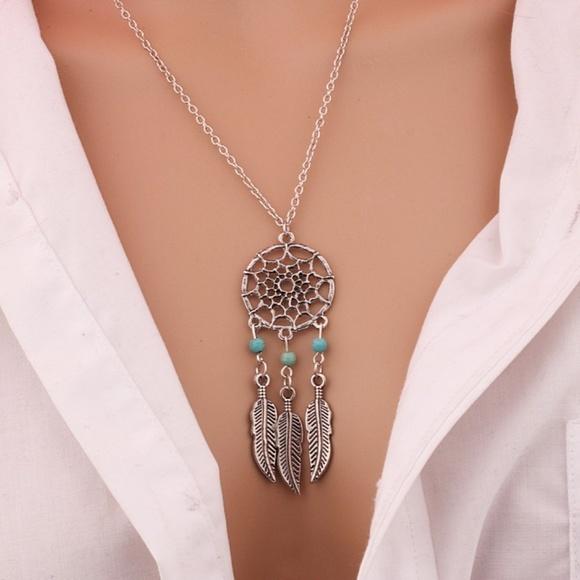 Jewelry bohemian dream catcher pendant chain necklace poshmark bohemian dream catcher pendant chain necklace aloadofball Images